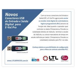 Novos Conectores USB de Entrada e Saída Digital para E-Val Pro